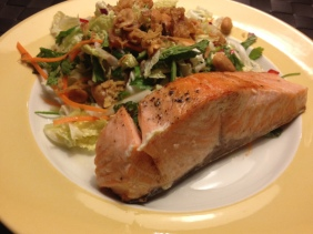 Salmon and Vietnamese salad recipe
